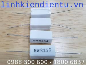 5WR25J Điện trở công suất 5W 0.25R, sai số 5%