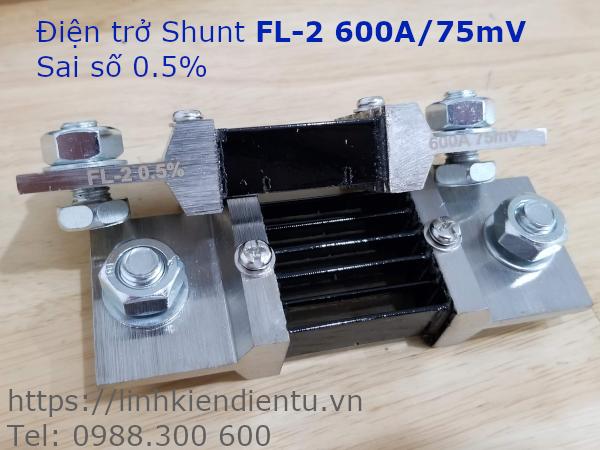 Điện Trở Shunt FL-2 600A/75mV Sai Số 0.5%