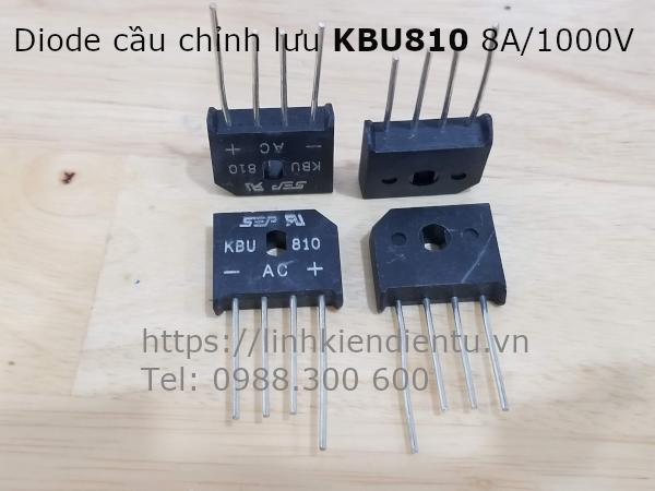 Diode cầu chỉnh lưu KBU810 8A 1000V