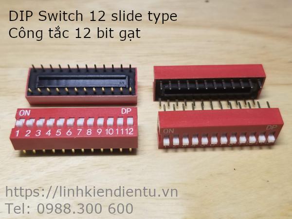 DIP Switch 12 slide type - Công tắc 12 bit gạt
