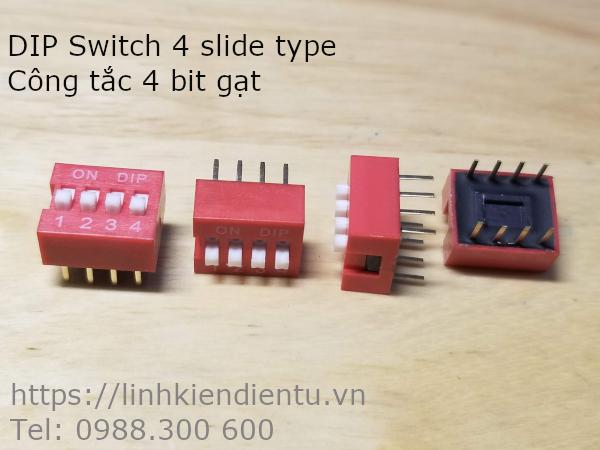 DIP Switch 4 slide type - Công tắc 4 bit gạt