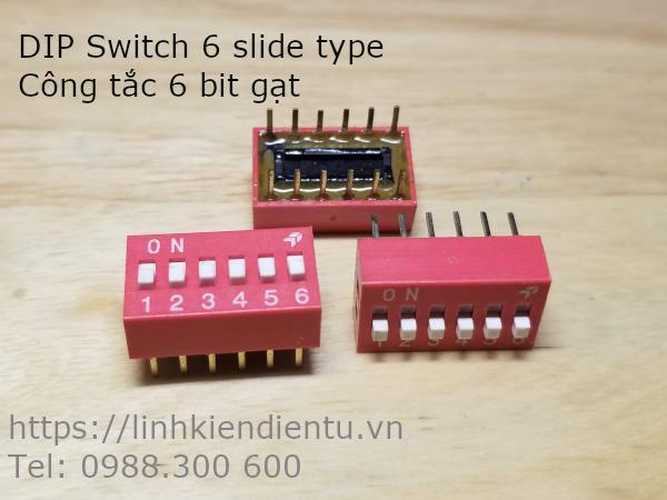 DIP Switch 6 slide type - Công tắc 6 bit gạt