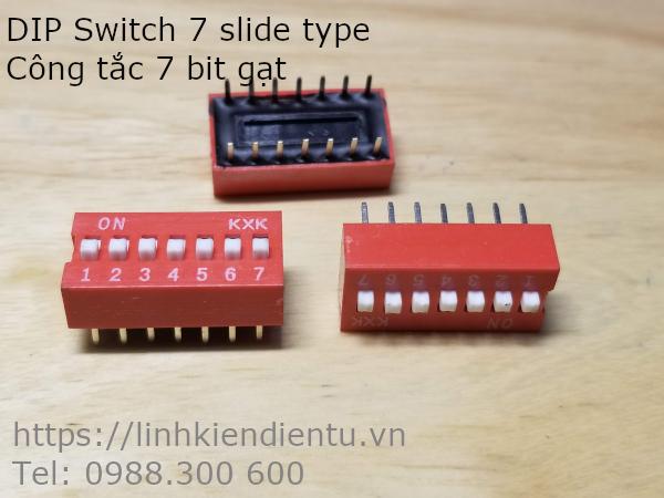 DIP Switch 7 slide type - Công tắc 7 bit gạt