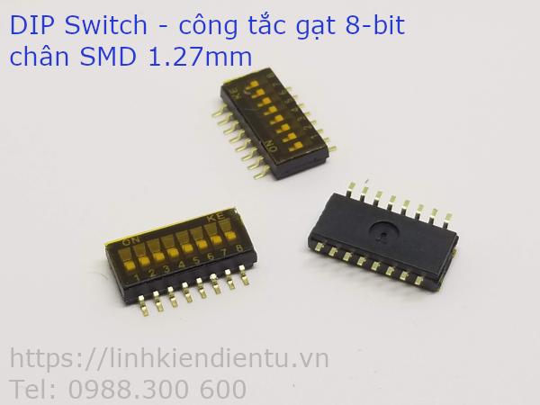 DIP Switch - công tắc gạt 8 bit, chân SMD 1.27mm