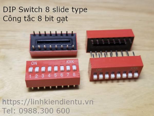 DIP Switch 8 slide type - Công tắc 8 bit gạt