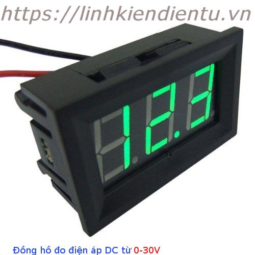 Đồng hồ đo điện áp từ 0-30V hiển thị LED