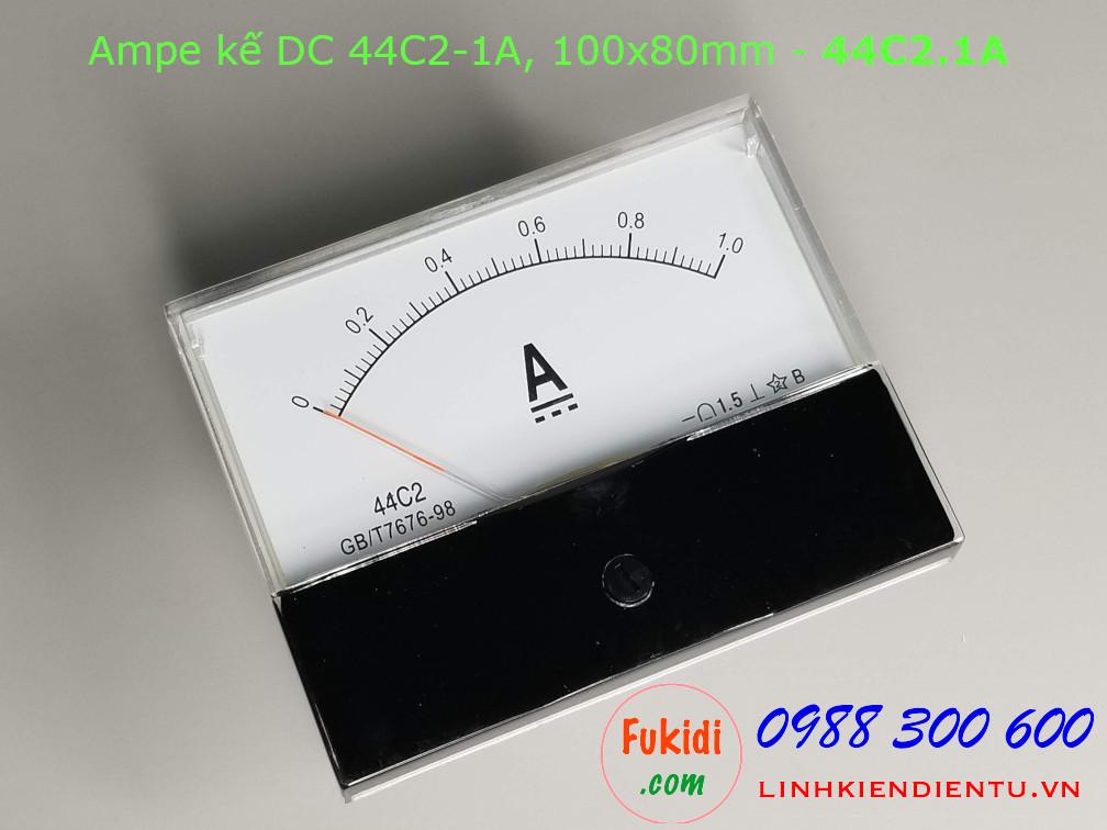 Ampe kế DC 44C2 1A chỉ thị bằng kim, kích thước 100x80mm - 44C2.1A