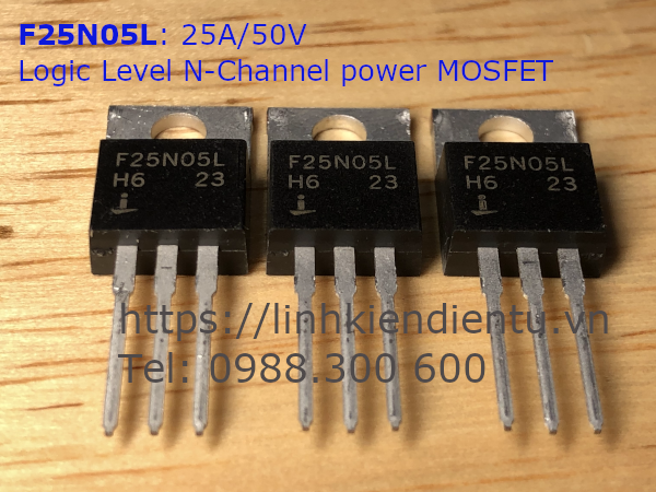 F25N05L 25A/50V Logic level N-Channel power MOSFET