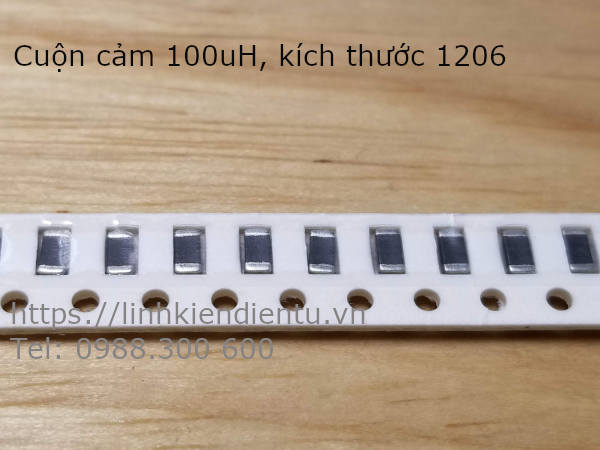 Cuộn cảm 100uH 101K, size 1206