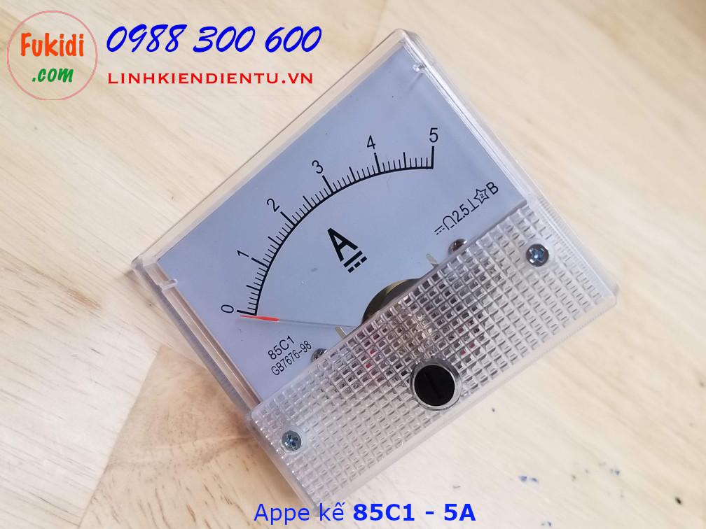 Ampe kế DC 5A 85C1 đo dòng điện DC từ 0 đến 5A - 85C1.5A