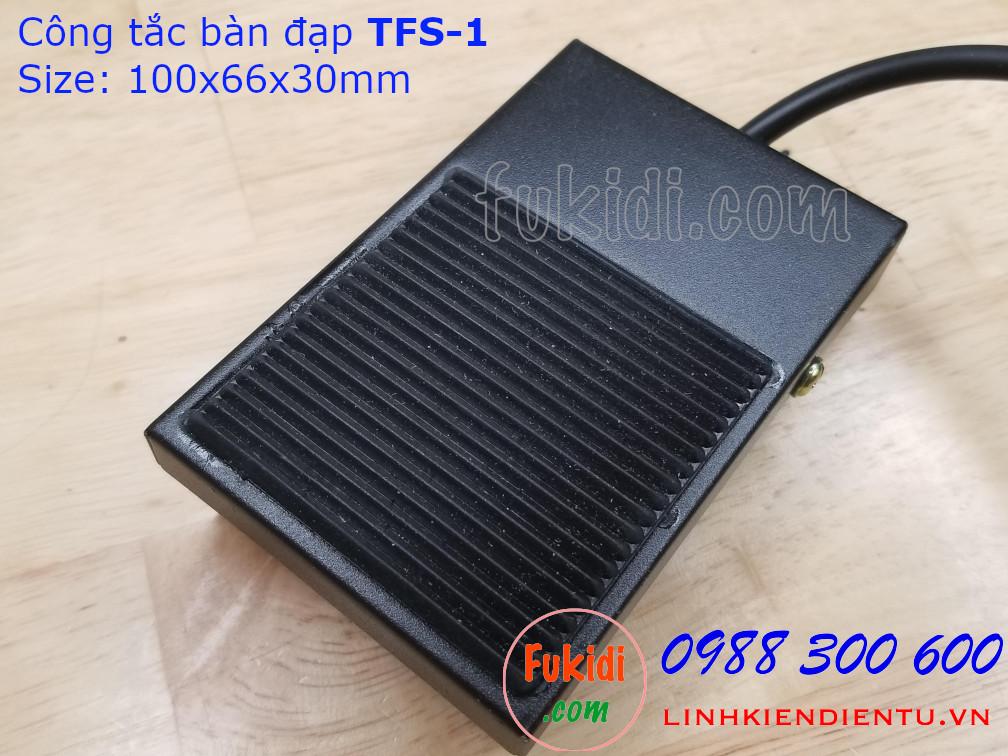 Công tắc bàn đạp TFS-1 250V-10A vỏ thép
