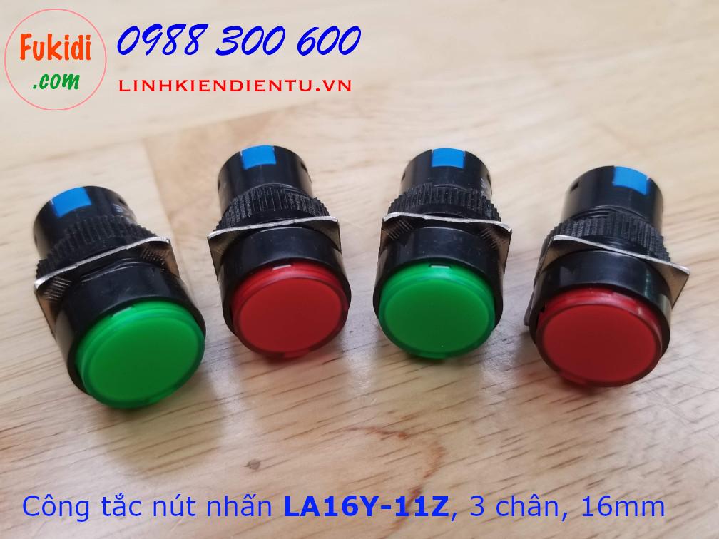 Công tắc nút nhấn giữ LA16Y-11Z AB6Y-A kích thước 16mm