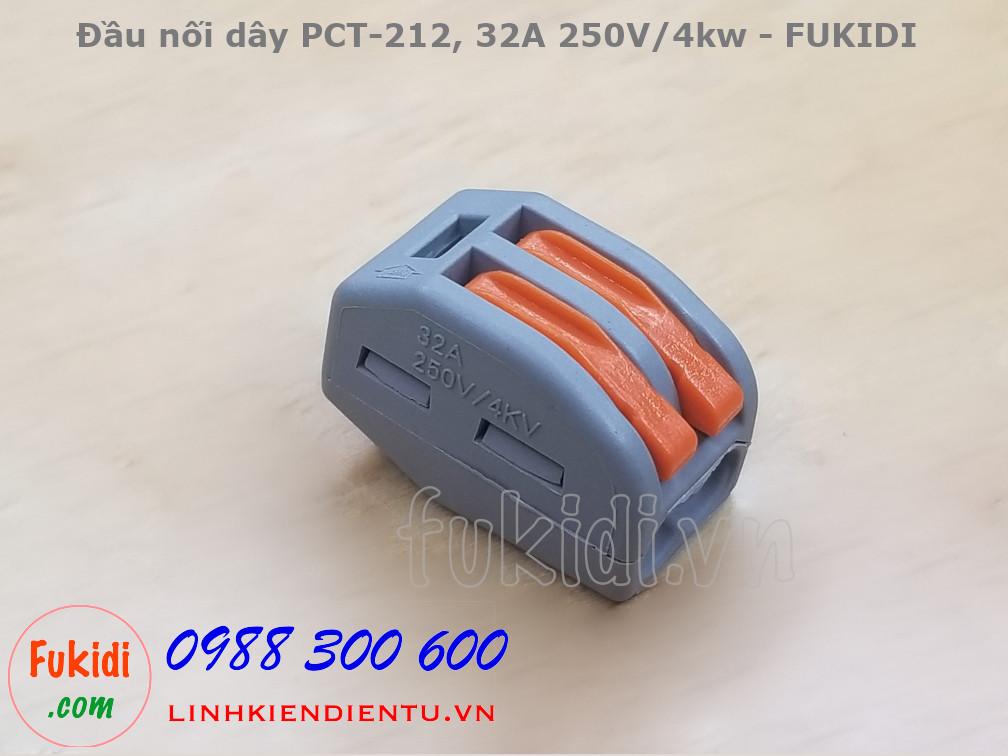 Cút nối dây, đầu nối dây PCT-212  32A 250V 4KW