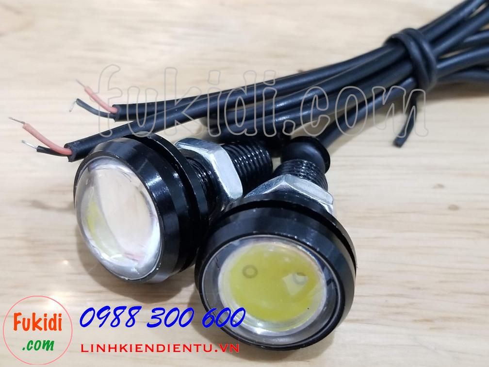 Bộ 2 cái đèn xi nhan cúc áo LED phi 23mm, điện áp 12V sáng màu vàng