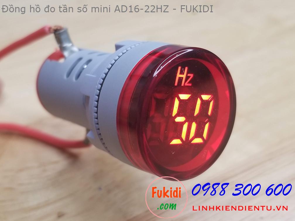Đồng hồ đo tần số mini, tầm đo 0-75hz, điện áp 24-500V, phi 22mm AD16-22HZ