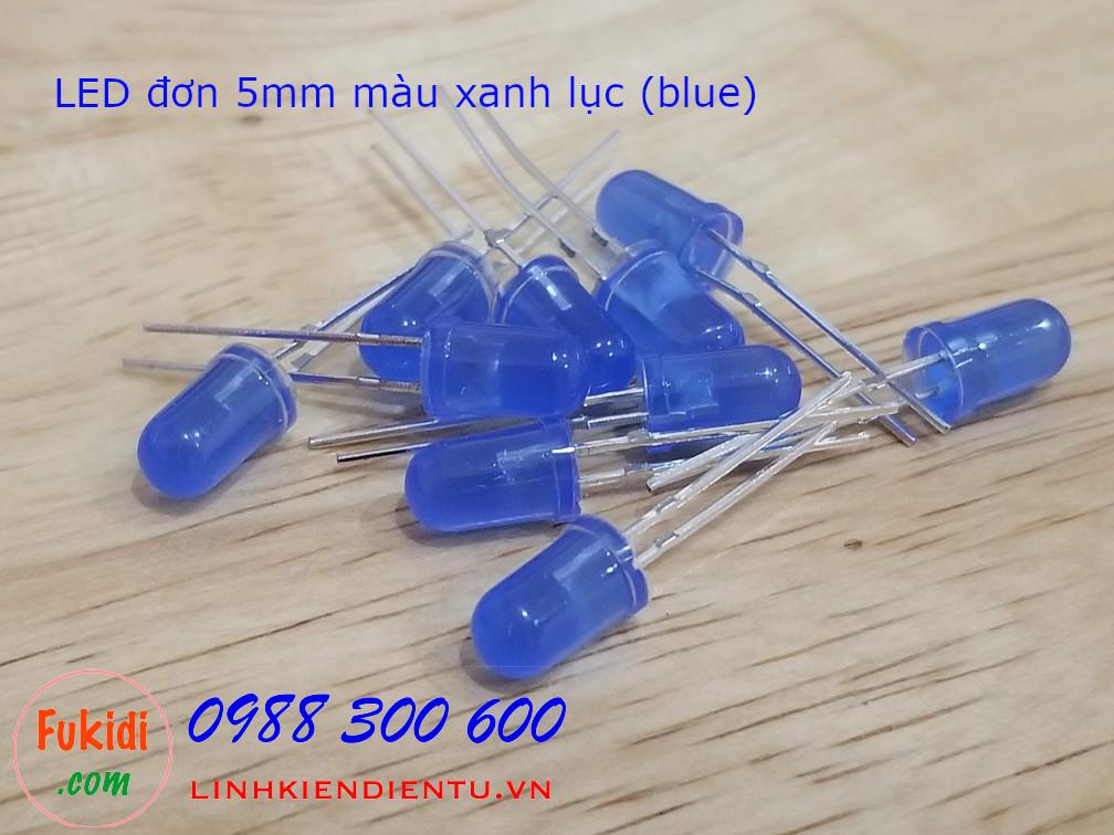 LED 5mm màu xanh lục sáng xanh lục