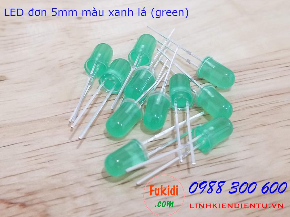 LED 5mm màu xanh lá sáng xanh lá