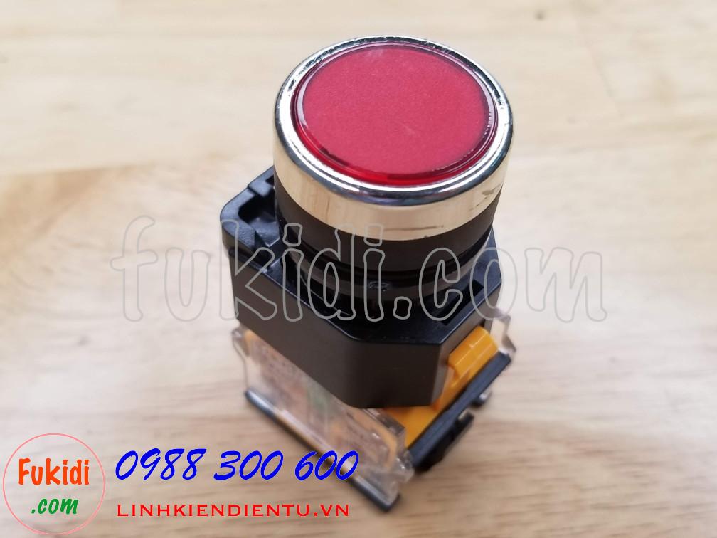 Nút nhấn nhả LA38-11 màu đỏ