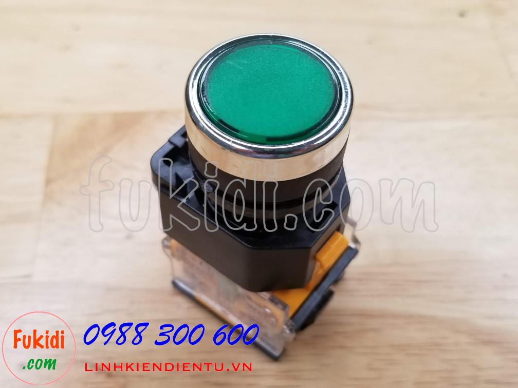 Nút nhấn nhả LA38-11 màu xanh