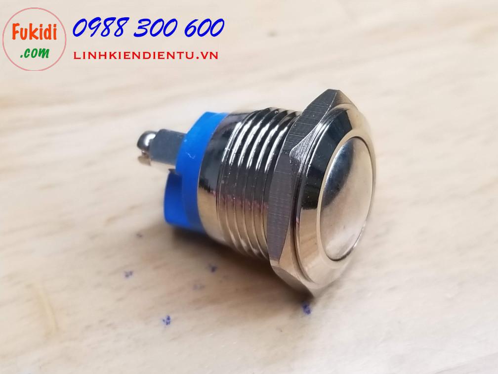 BN16HC - Nút nhấn nhả vỏ inox phi 16mm đầu nút hình cầu