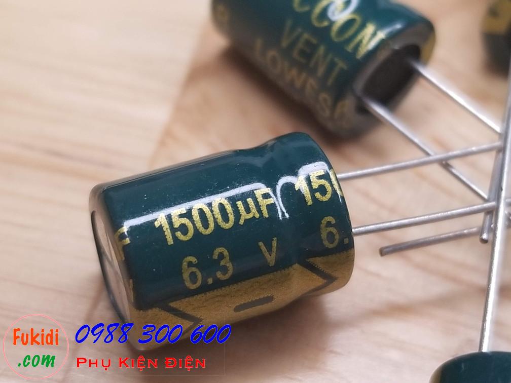 Tụ hóa JCCON 1500uF 6.3V size 10x13mm