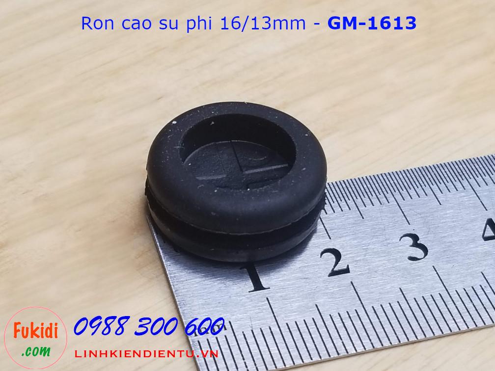 Vòng đệm, ron cao su cho dây điện phi 16mm,  luồn dây 13.5mm dày 9mm - GM1613