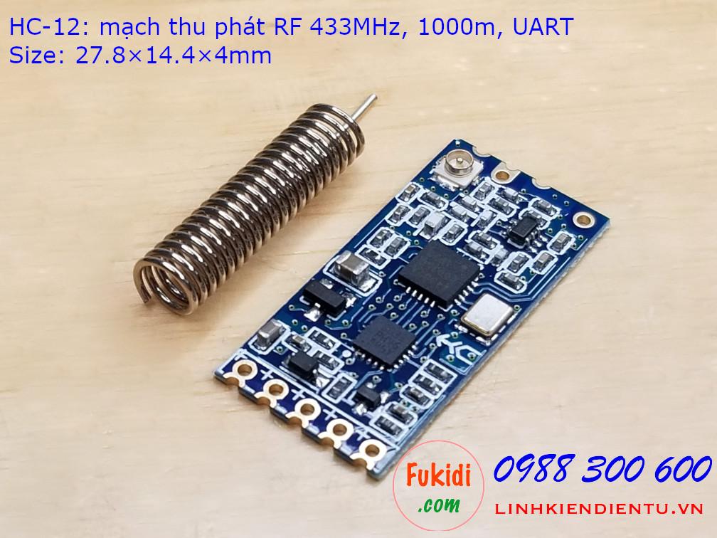 HC-12 mạch thu phát RF 433MHz tầm xa 1000m giao tiếp UART