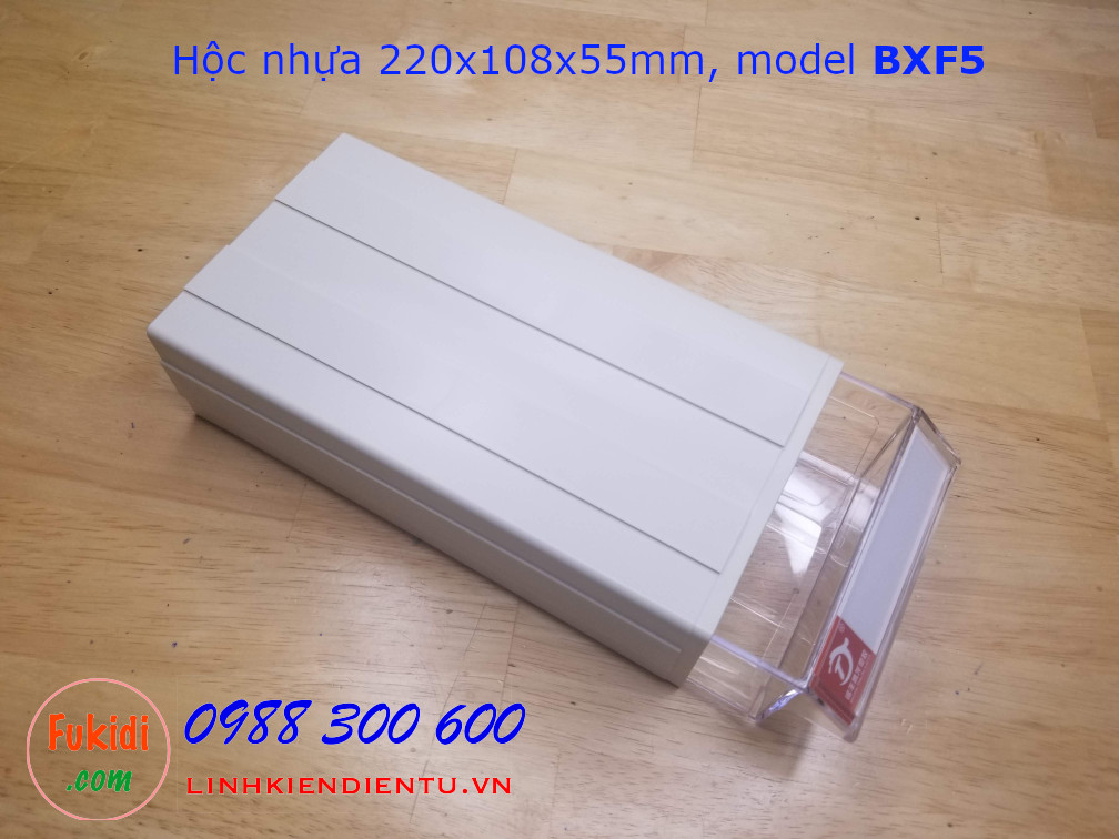 Hộc nhựa, hộp nhựa đa năng size 220x108x55mm model BXF5