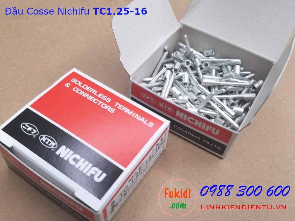 Đầu cosse ghim Nichifu TC1.25-16 dùng cho dây 1.7mm dài 22mm