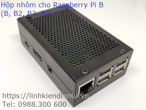 Hộp nhôm chuyên dụng cho Raspberry Pi B (B2, B3, B3+)