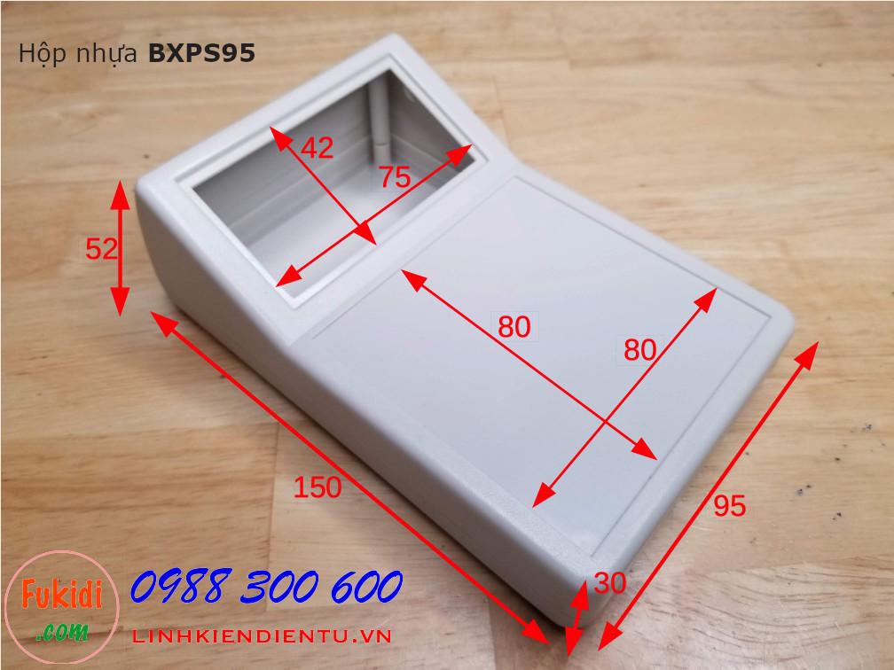 Hộp nhựa làm vỏ hộp cho sản phẩm điện tử cầm tay, có cả màn hình LCD và bàn phím nhập liệu BXPS95