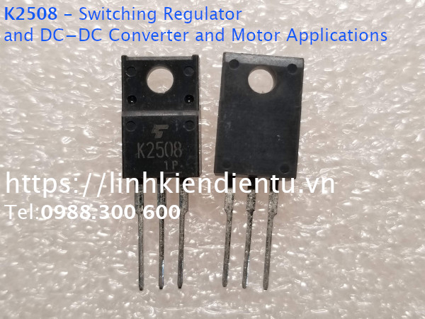 2SK2508 - Switching Regulator and DC−DC Converter and Motor Applications