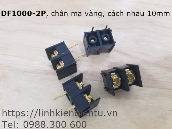KF1000-2P, chân 10mm, mạ vàng