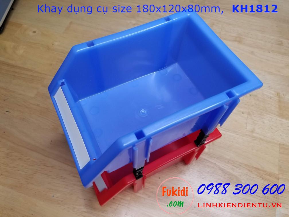 Kệ dụng cụ bằng nhựa, khay nhựa đựng dụng cụ 180x120x80mm model KH1812