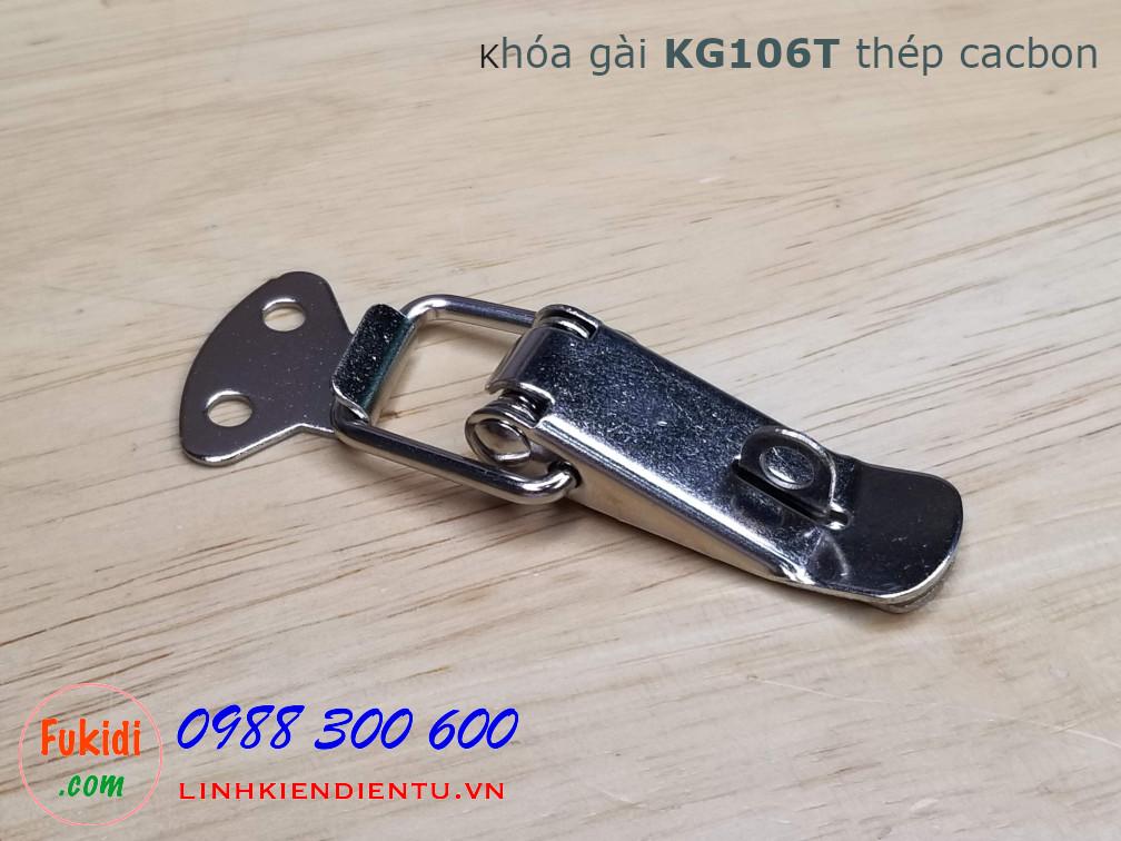 Khóa gài cửa tủ KG106T, chất liệu thép cacbon kích thước 74x32mm