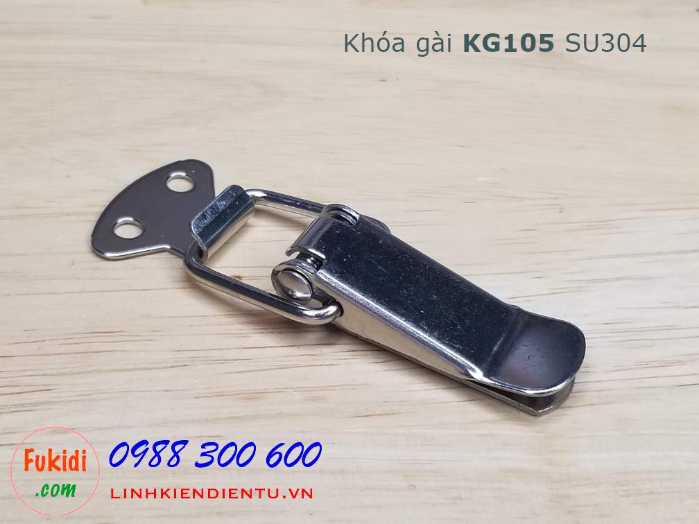 Khóa gài KG105 chất liệu SU304 kích thước 75x25mm