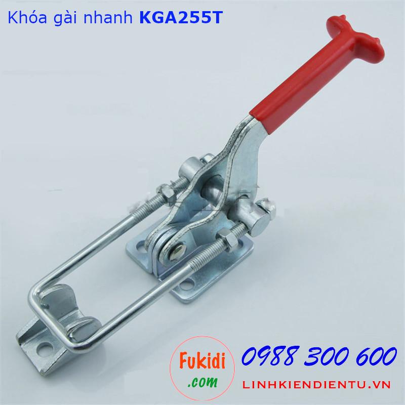 Khóa gài nhanh, kẹp định vị, chất liệu thép mạ kẽm dài 255mm - KGA255T