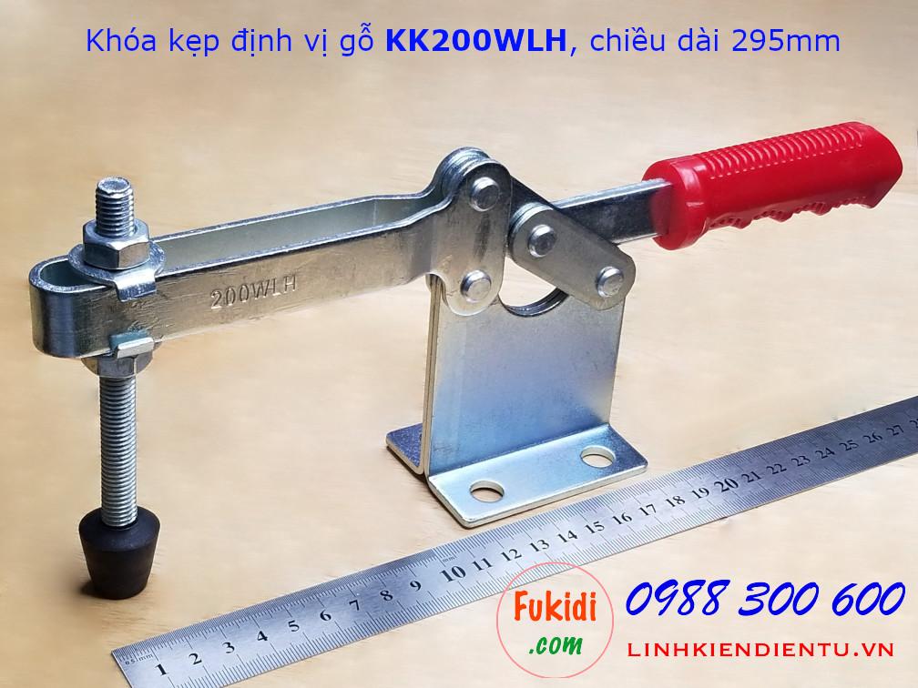 Khóa kẹp định vị, khóa giữ chất liệu thép, chiều dài 295mm - KK200WLH