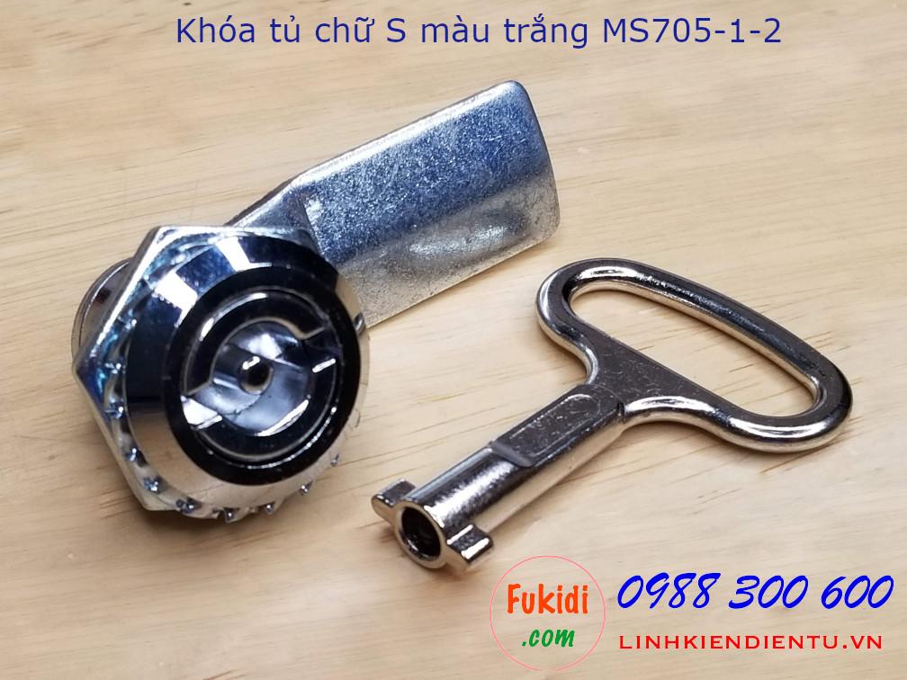 Khóa tủ điện MS705-1-2 đầu chữ S