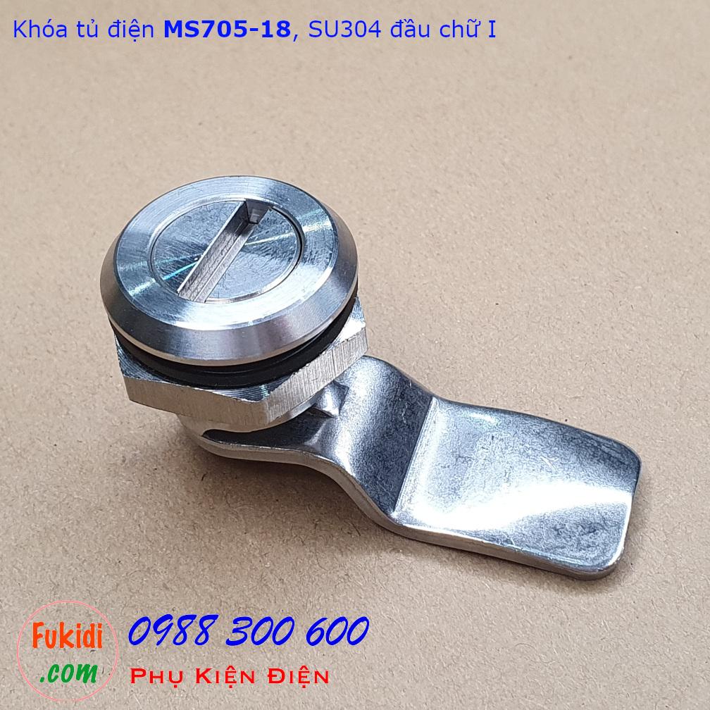 Khóa tủ điện MS705-18 chất liệu SU304 phi 22mm loại chữ I