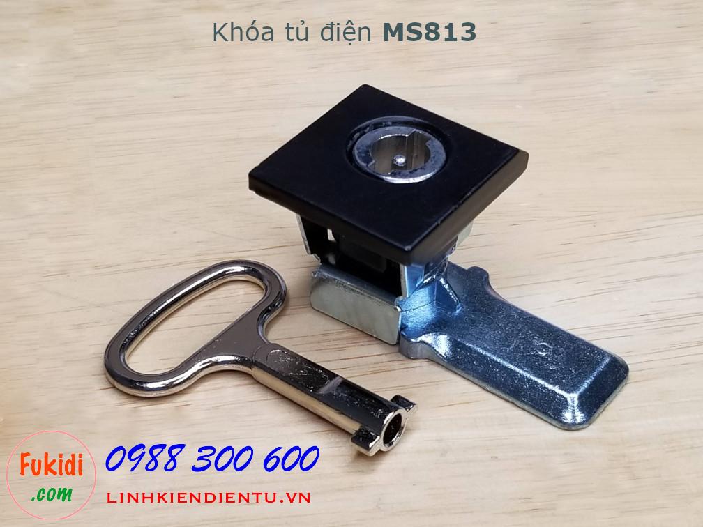 Khóa tủ điện MS813 chất liệu hợp kim kẽm màu đen