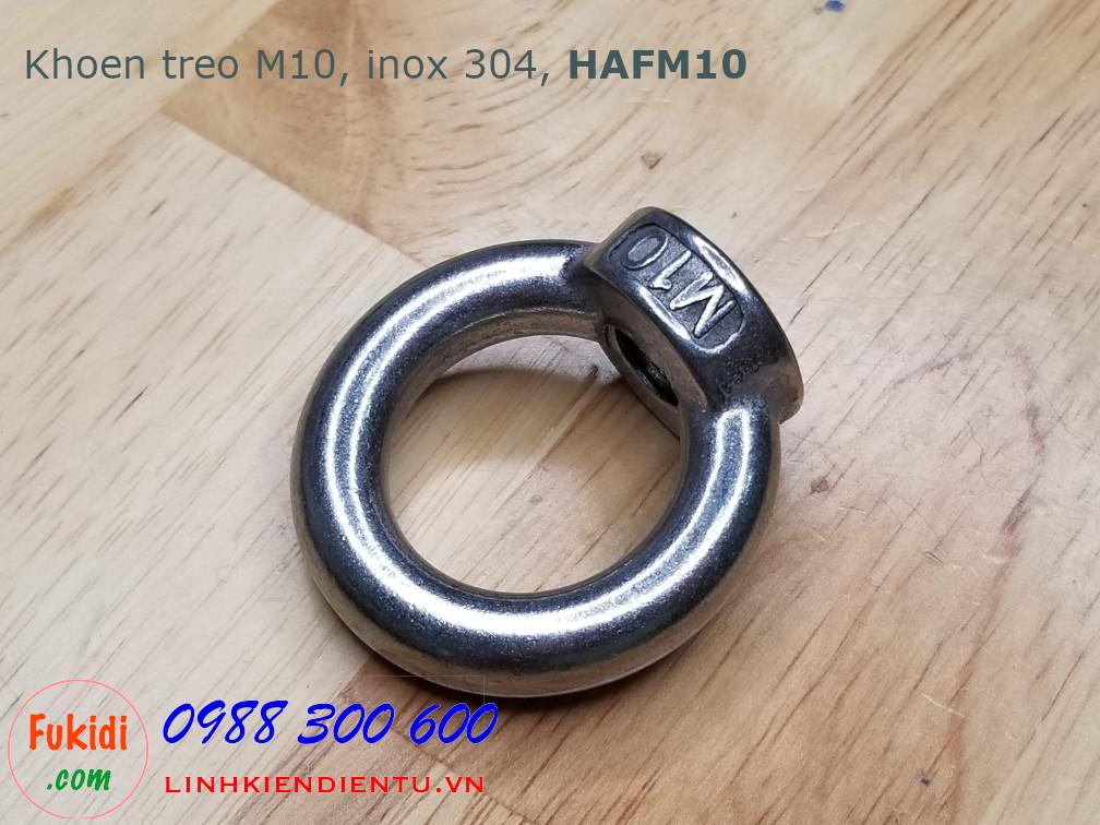 Khoen treo inox 304 size M10 model HAFM10