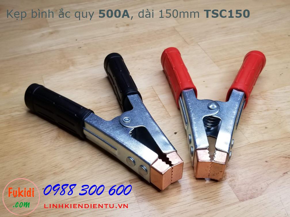 Kẹp bình ắc quy 500A, dài 150mm model TSC150