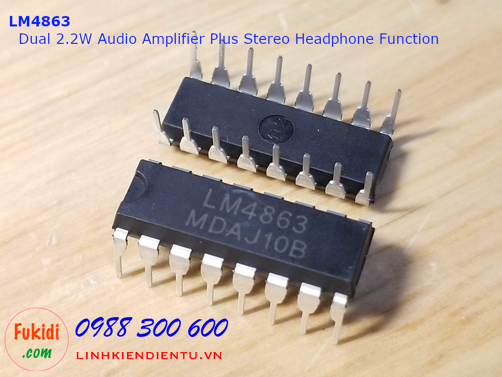 LM4863 Dual 2.2W Audio Amplifier Plus Stereo Headphone Function