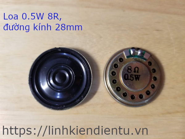 Loa 0.5W 8R, kích thước 28mm