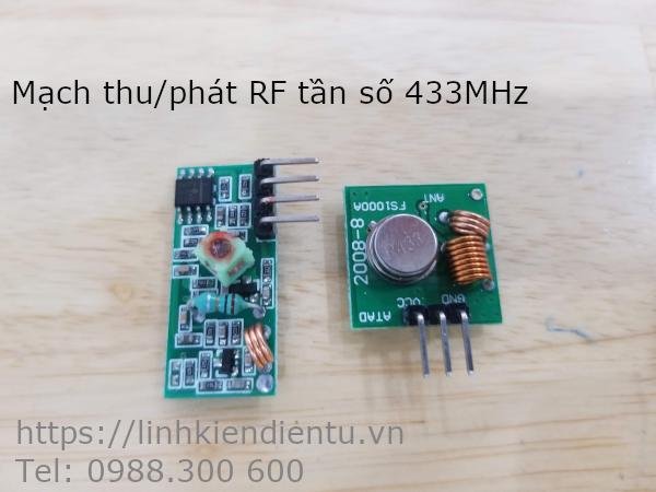 Mạch thu phát RF tần số 433MHz đơn giản