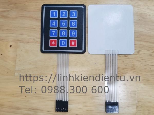 Bàn phím keypad matrix 4x3 nhựa dẻo