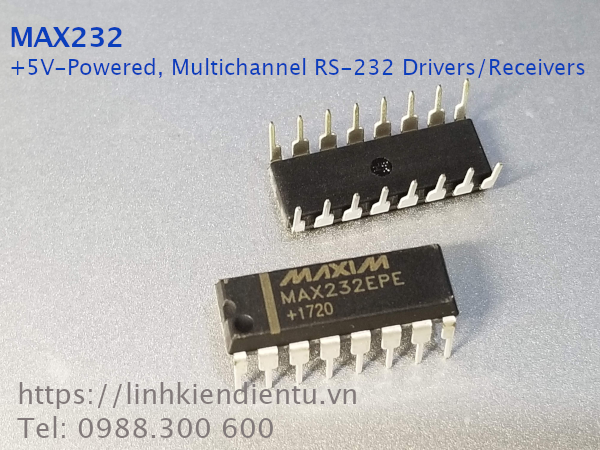 MAX232 +5V-Powered, Multichannel RS-232 Drivers/Receivers