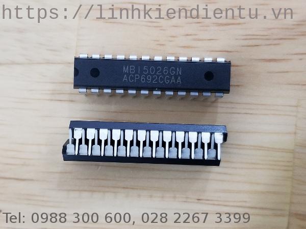 MBI5026GN: Thanh ghi dịch 16 bit với ngõ ra 17V/90mA dùng điều khiển  LED