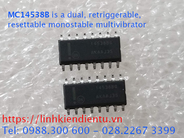 MC14538B is a dual, retriggerable, resettable monostable multivibrator